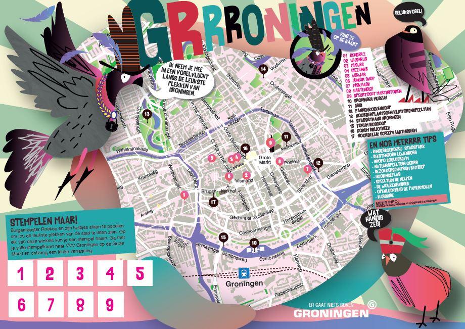 Kinder routekaart Groningen